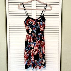 Band of Gypsies floral bustier mini dress